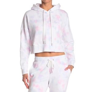 NWT- 90 DEGREE Brushed Knit Cropped Hoodie